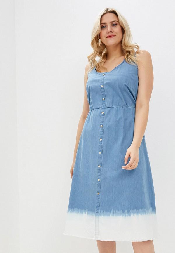женское джинсовые платье junarose, синее