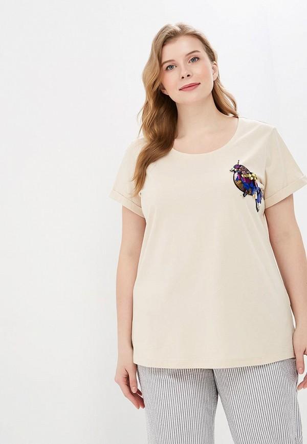 женская футболка junarose, бежевая