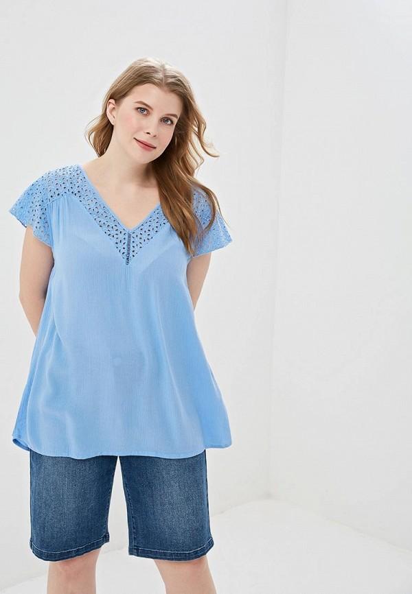 женская блузка junarose, голубая