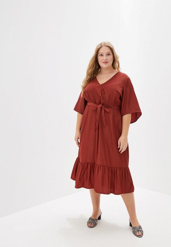 женское повседневные платье junarose, коричневое