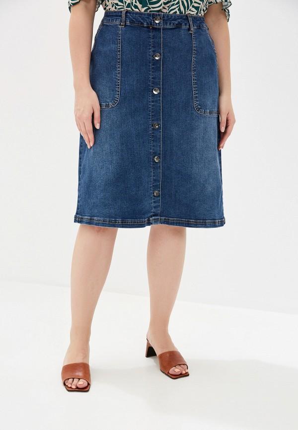 женская джинсовые юбка junarose, синяя