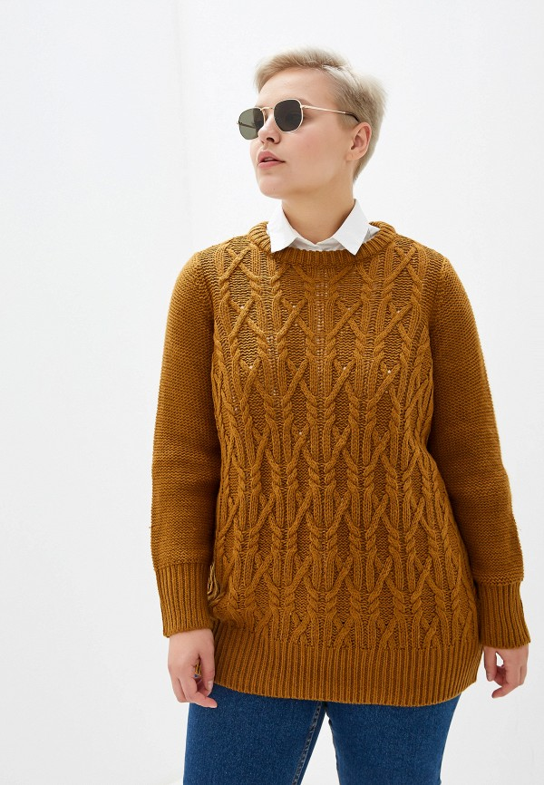 женский джемпер junarose, коричневый
