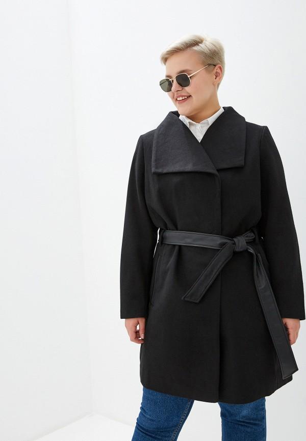 женское пальто junarose, черное