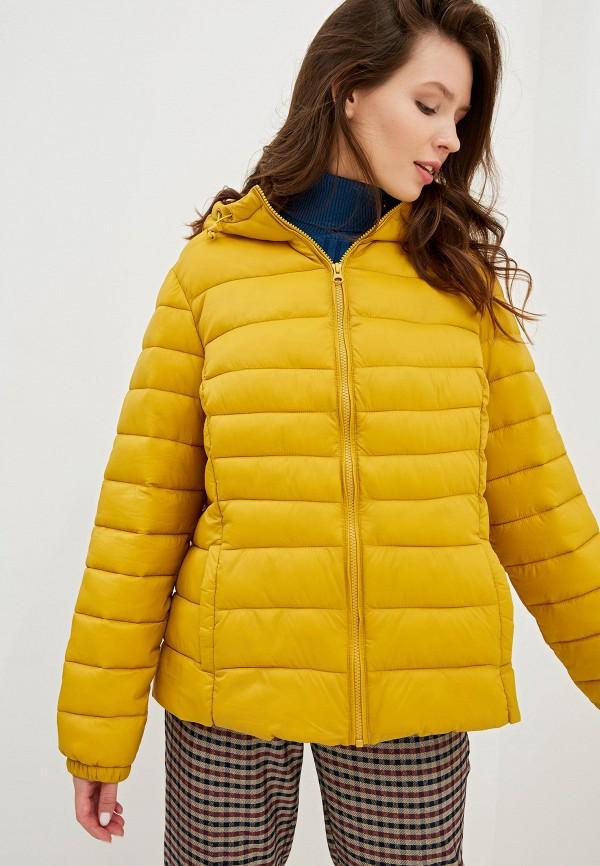 Фото - Куртку утепленная Junarose желтого цвета