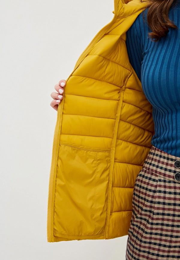 Фото 4 - Куртку утепленная Junarose желтого цвета