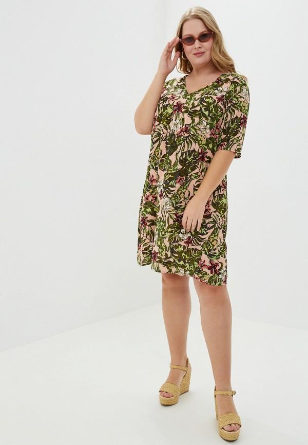 Фото 2 - женское платье Junarose розового цвета