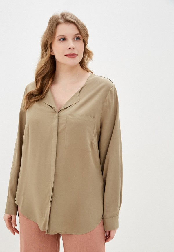 женская блузка junarose, бежевая
