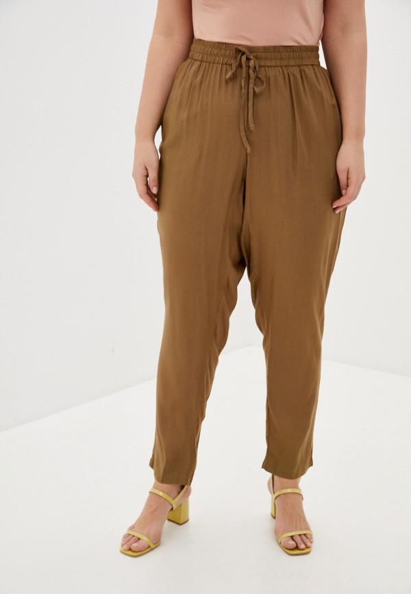 женские прямые брюки junarose, коричневые