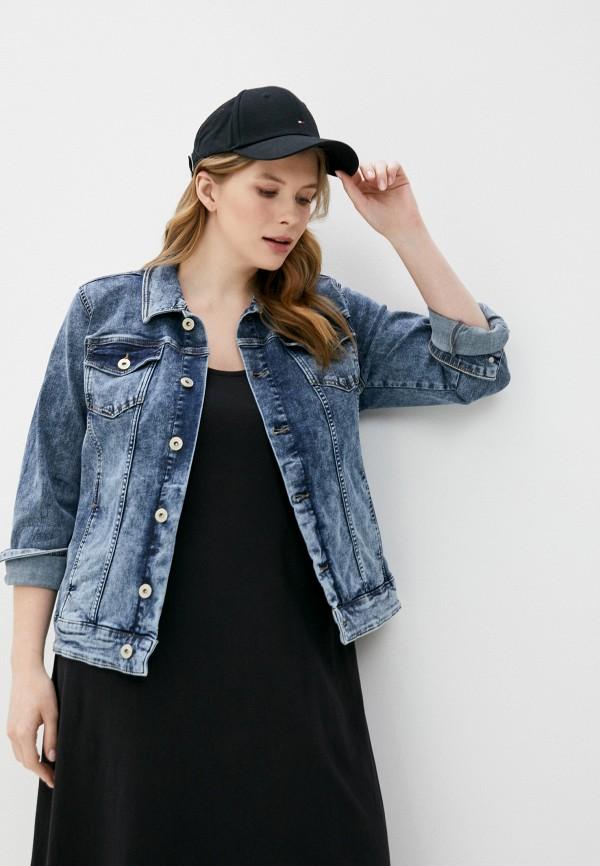 женская джинсовые куртка junarose, синяя