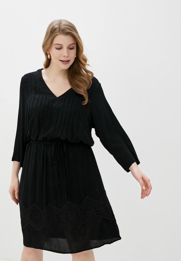 женское повседневные платье junarose, черное
