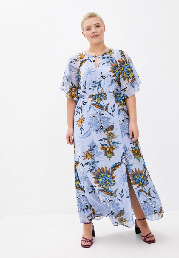 женское повседневные платье junarose, голубое
