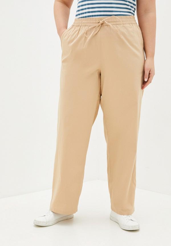 женские прямые брюки junarose, бежевые