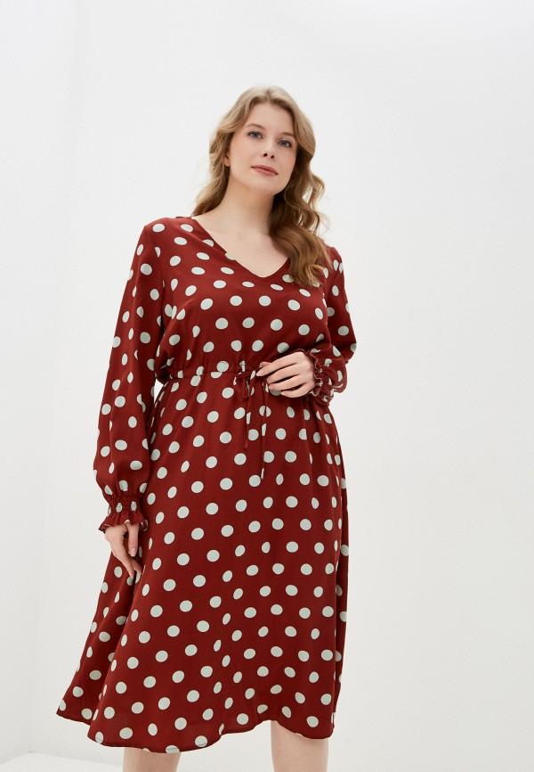женское повседневные платье junarose, бордовое