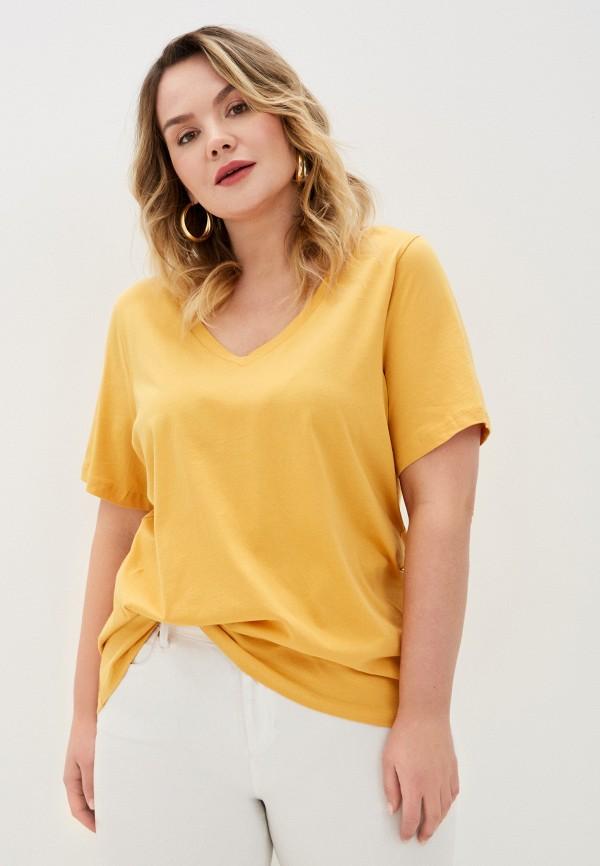 женская футболка junarose, желтая