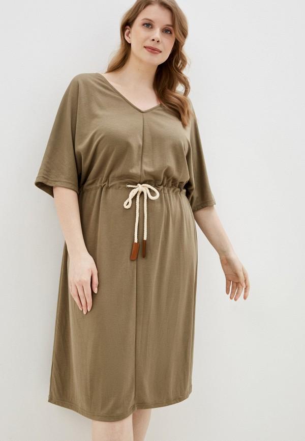 женское повседневные платье junarose, хаки