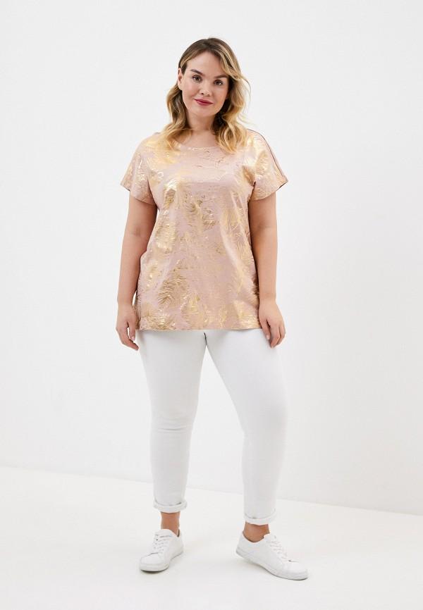 женская футболка junarose, розовая