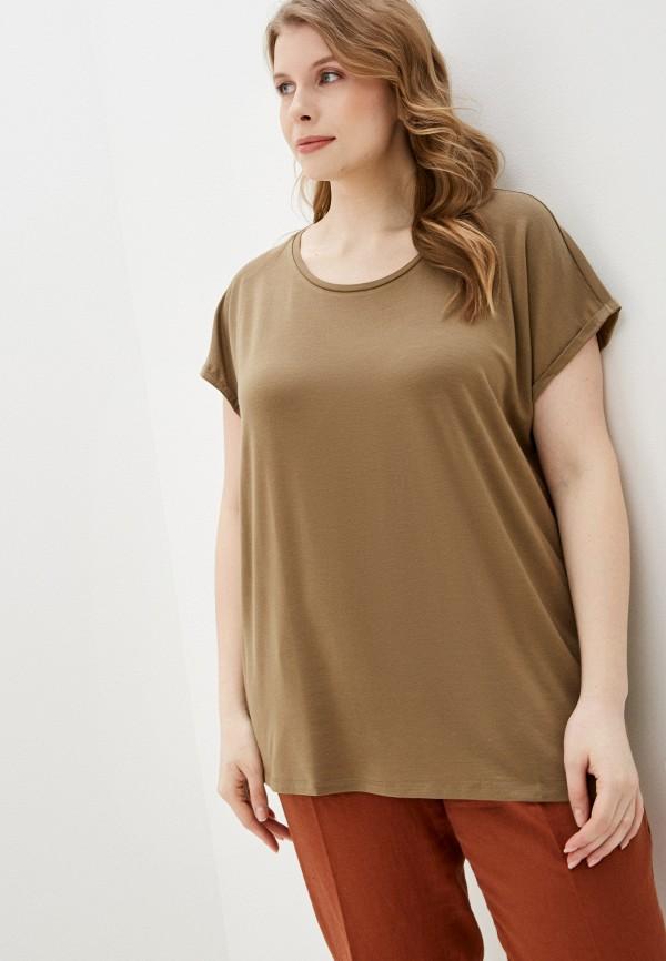 женская футболка junarose, коричневая