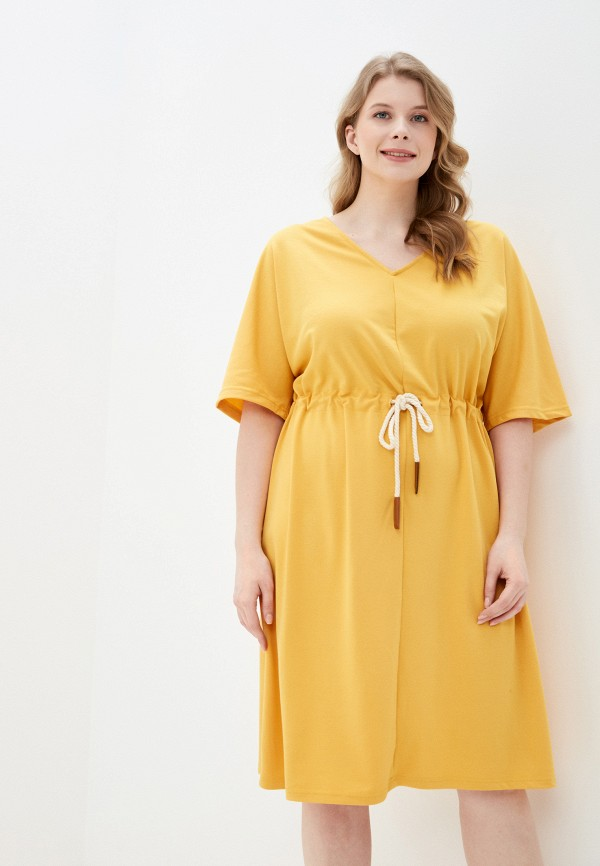 женское повседневные платье junarose, желтое