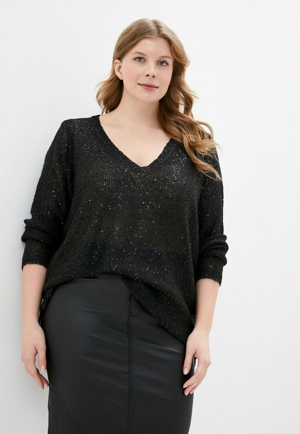 женский пуловер junarose, черный