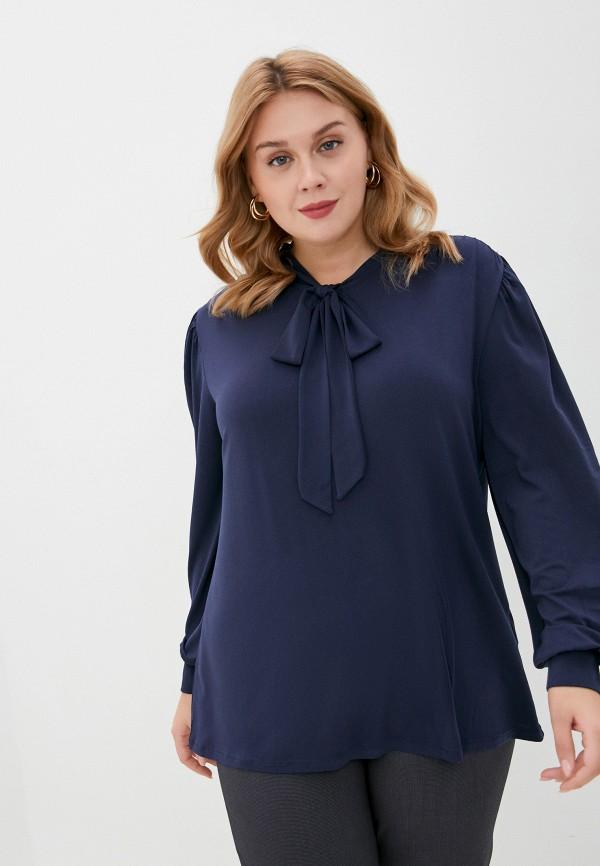 женская блузка junarose, синяя