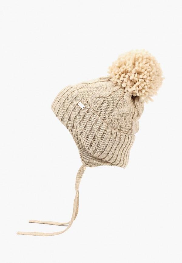 шапка junior republic для девочки, бежевая