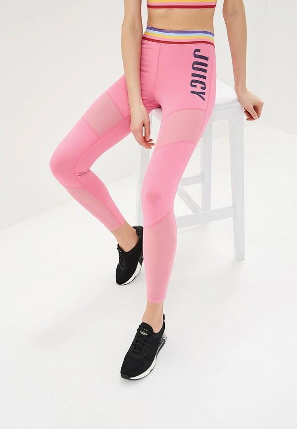 женские леггинсы juicy by juicy couture, розовые