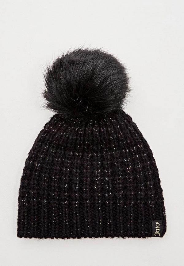 женская шапка juicy couture, черная