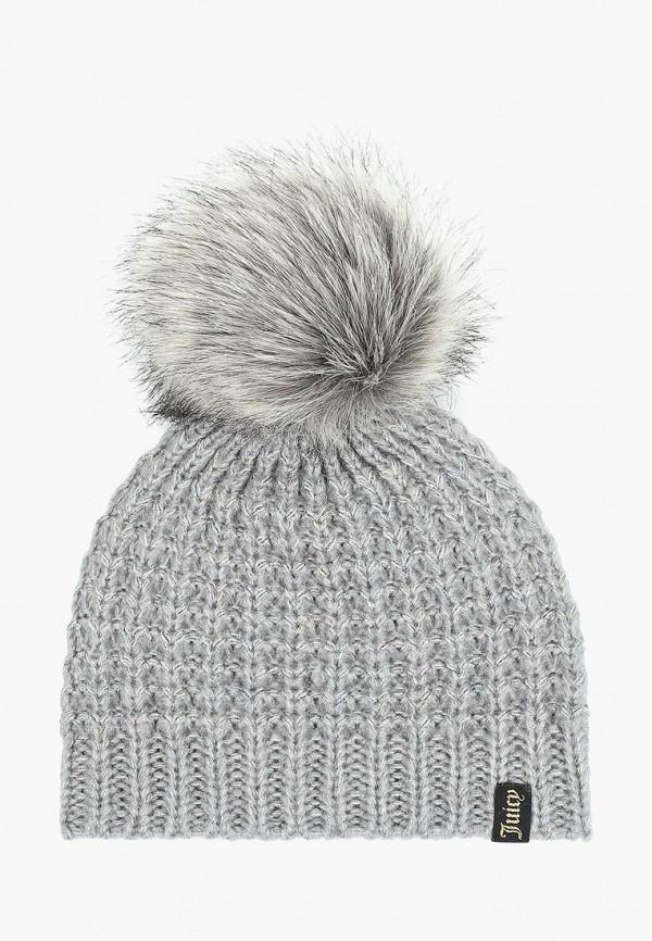 женская шапка juicy couture, серая