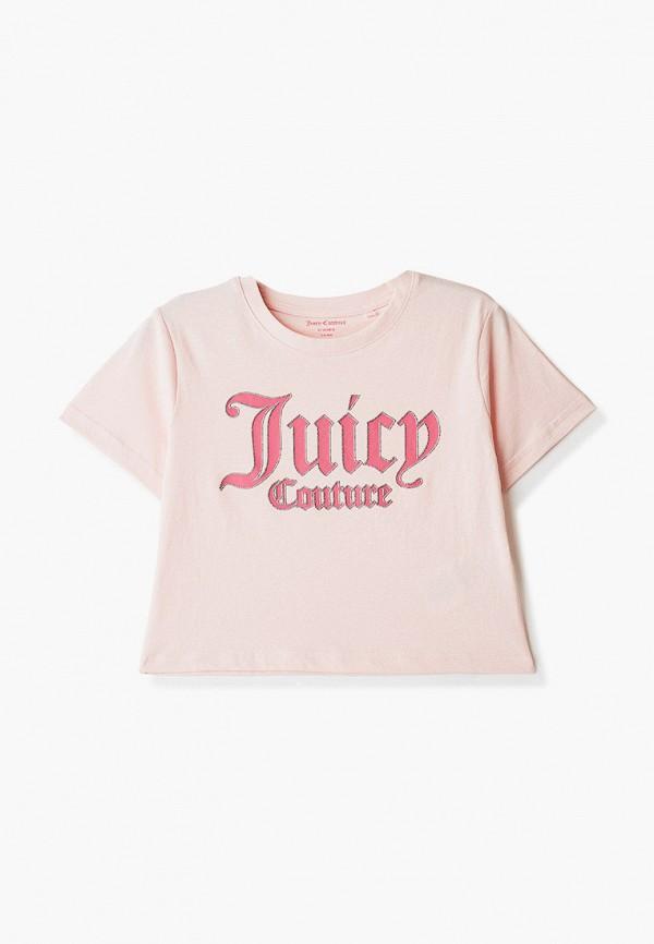 футболка с коротким рукавом juicy couture для девочки, розовая
