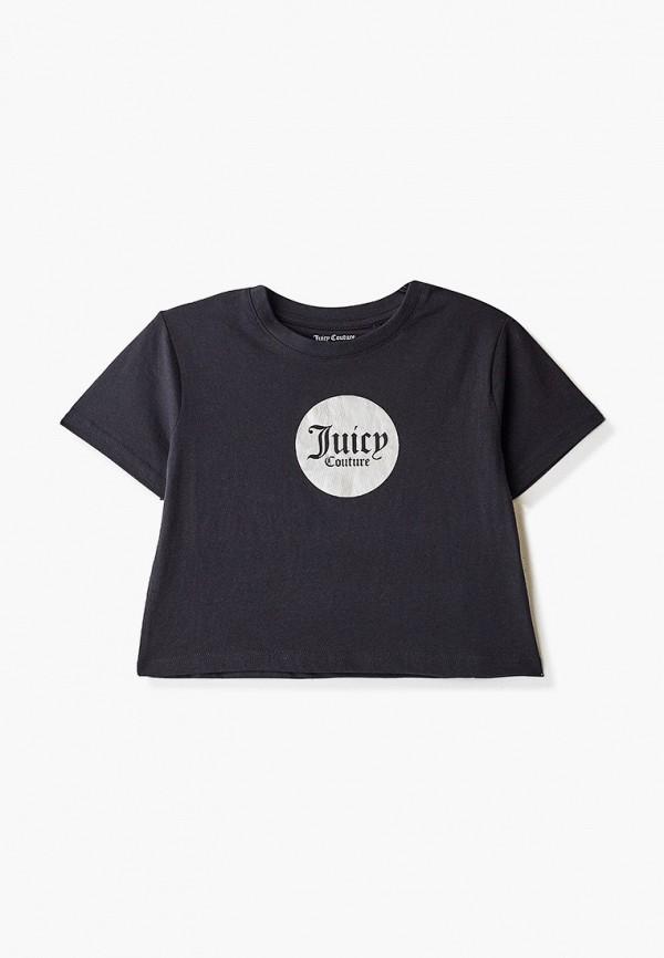 футболка с коротким рукавом juicy couture для девочки, черная