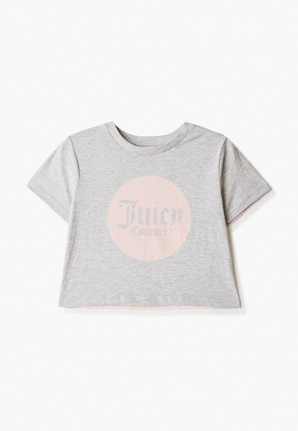 футболка с коротким рукавом juicy couture для девочки, серая
