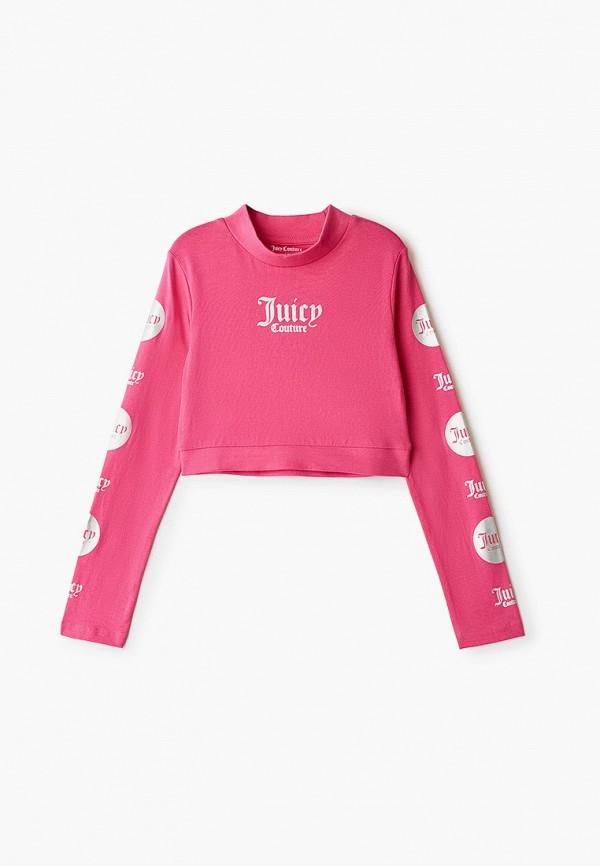 лонгслив juicy couture для девочки, розовый
