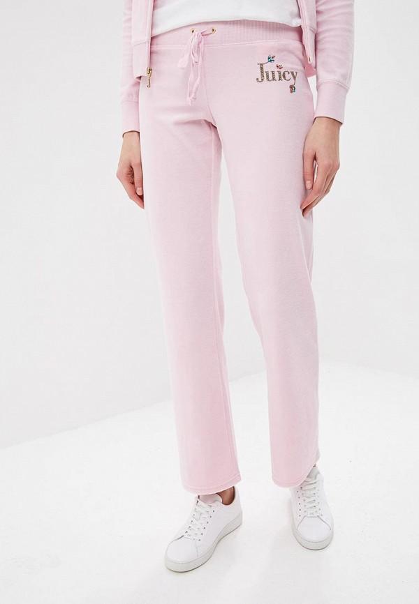 женские спортивные спортивные брюки juicy couture, розовые