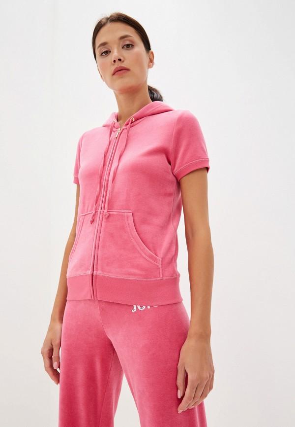 женская толстовка juicy couture, розовая