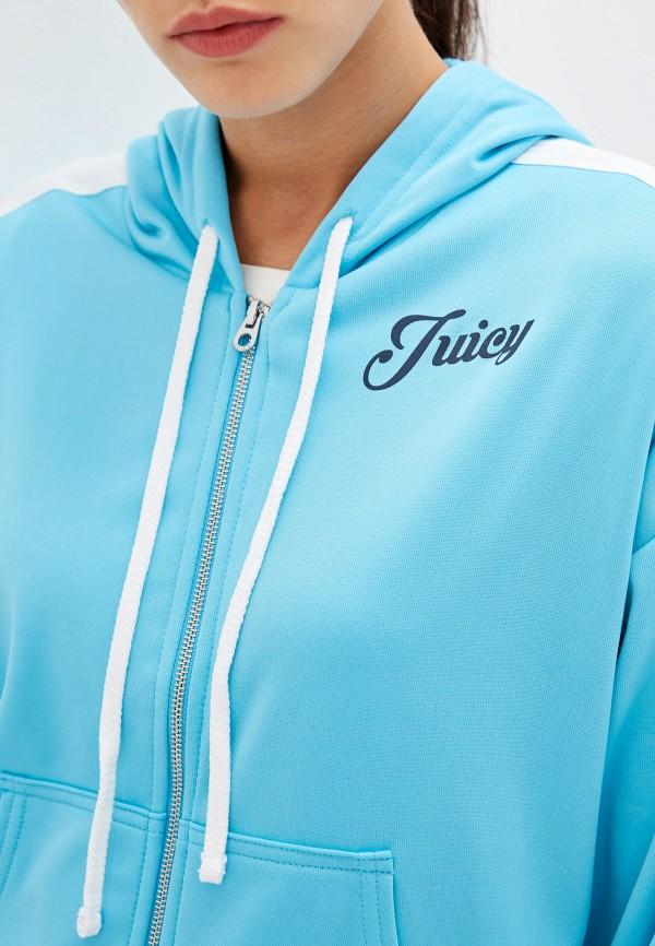 Фото 4 - женскую толстовку или олимпийку Juicy Couture голубого цвета