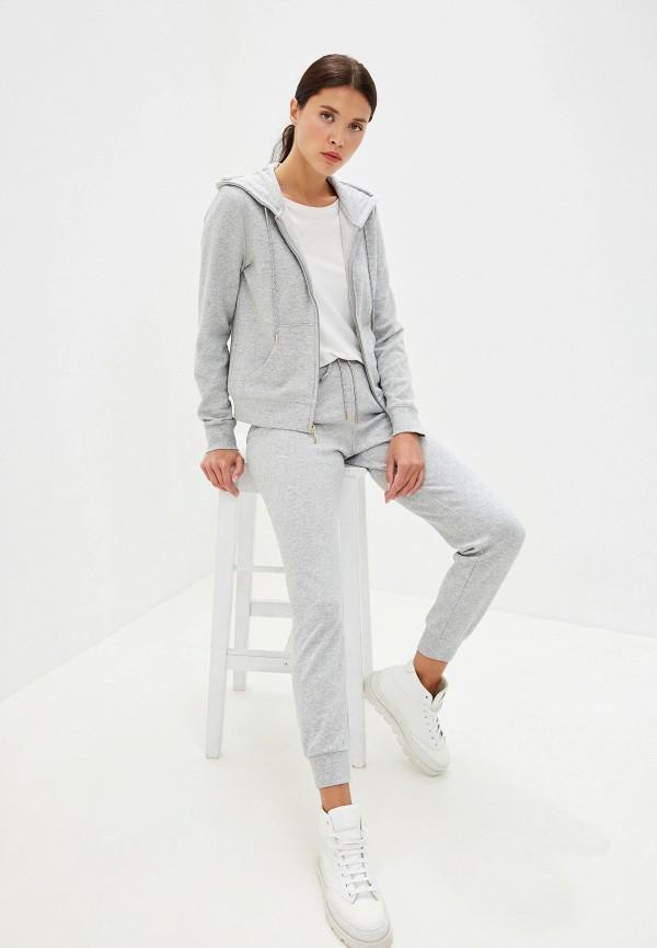 Фото 2 - женскую толстовку или олимпийку Juicy Couture серого цвета