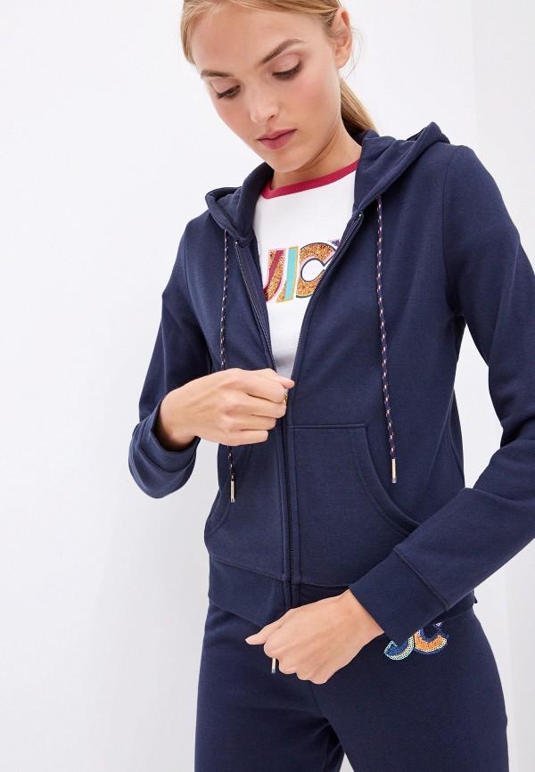 Фото - женскую толстовку или олимпийку Juicy Couture синего цвета