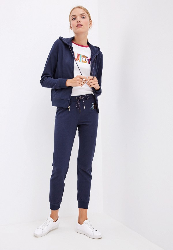 Фото 2 - женскую толстовку или олимпийку Juicy Couture синего цвета