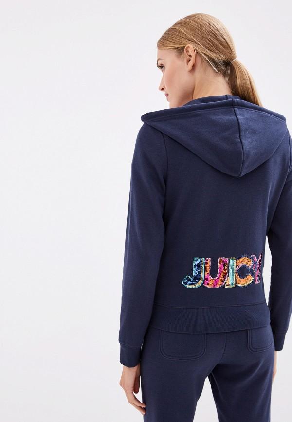 Фото 3 - женскую толстовку или олимпийку Juicy Couture синего цвета