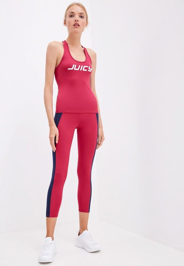 Фото 2 - женский топ Juicy Couture бордового цвета