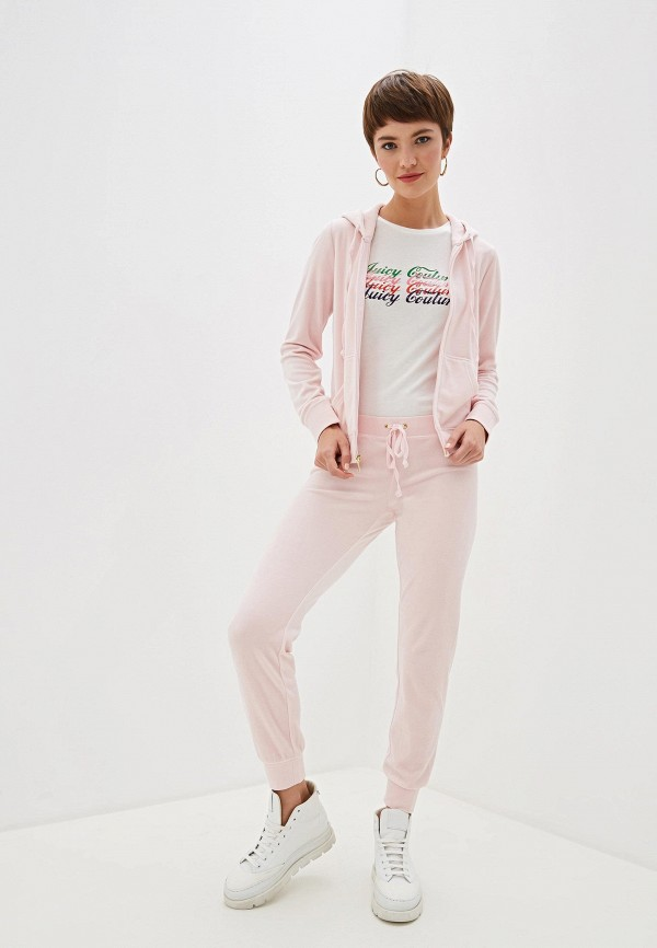 Фото 2 - женскую футболку Juicy Couture белого цвета