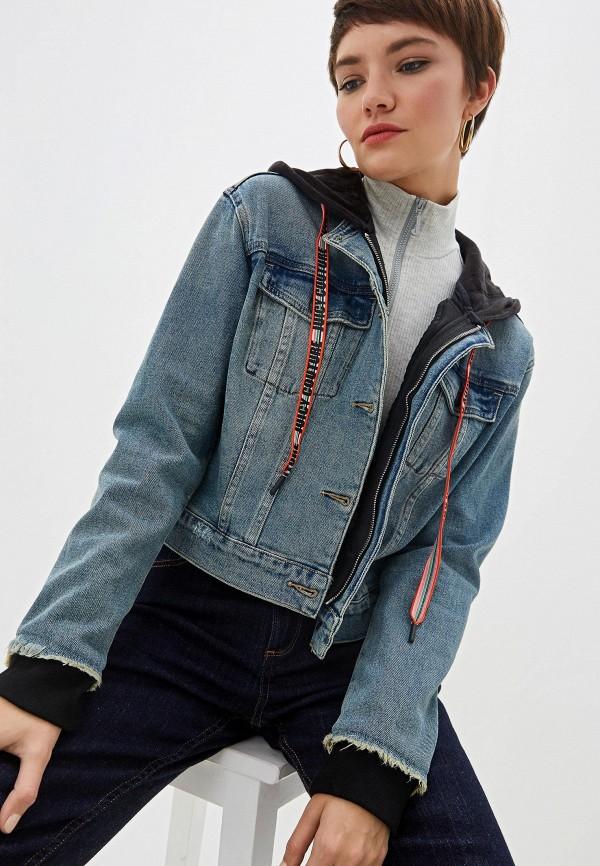 женская джинсовые куртка juicy couture, голубая