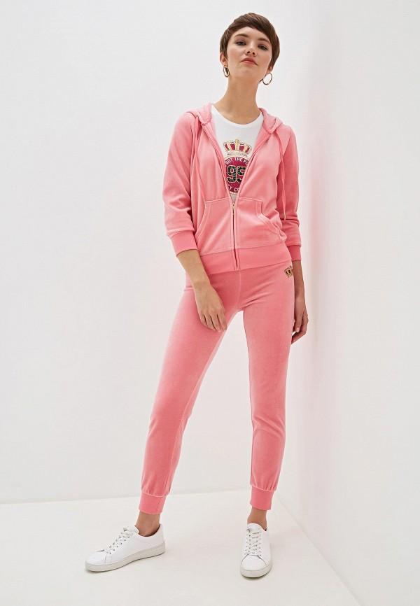 Фото 2 - женскую толстовку или олимпийку Juicy Couture розового цвета