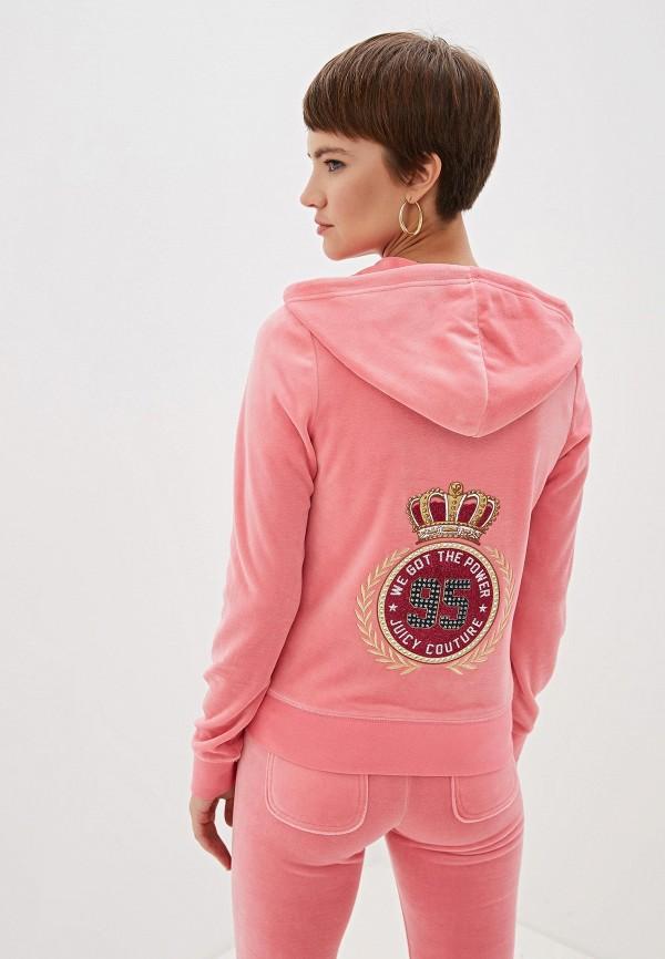 Фото 3 - женскую толстовку или олимпийку Juicy Couture розового цвета