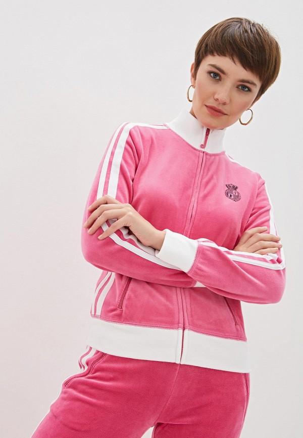 Фото 4 - женскую толстовку или олимпийку Juicy Couture розового цвета