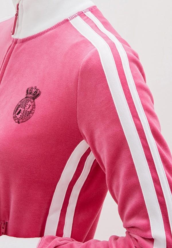 Фото 5 - женскую толстовку или олимпийку Juicy Couture розового цвета