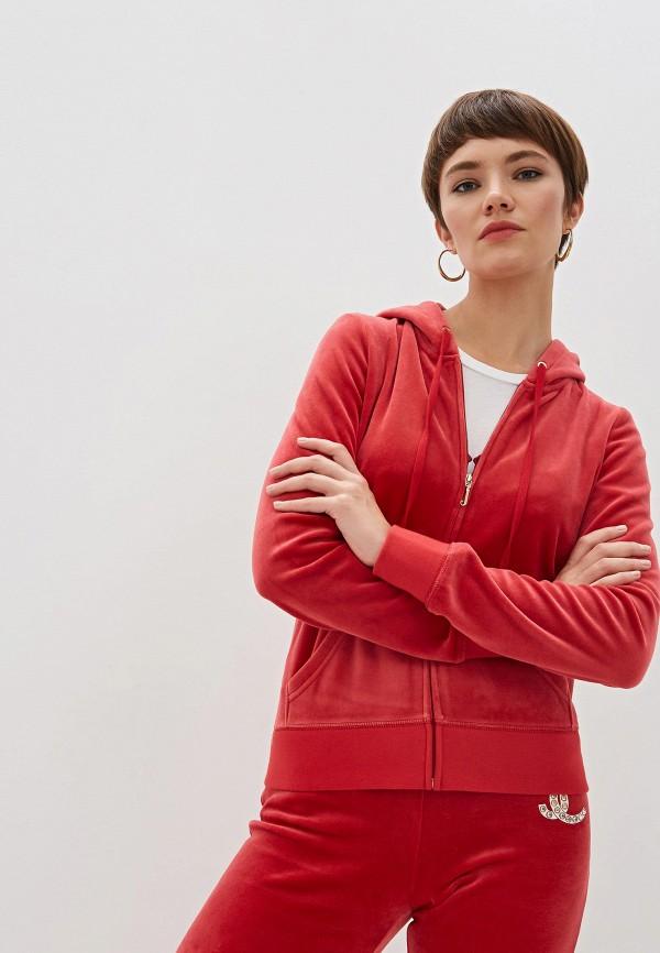 женская толстовка juicy couture, красная