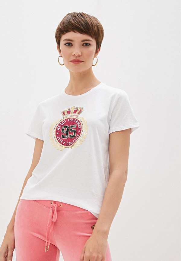лучшая цена Футболка Juicy Couture Juicy Couture JU660EWGOLH1