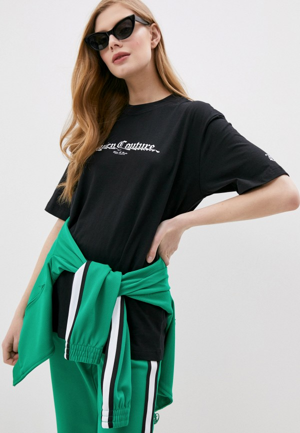 женская футболка juicy couture, черная