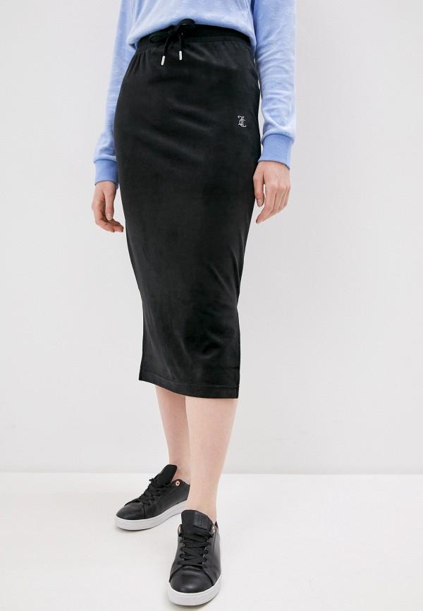 женская узкие юбка juicy couture, черная